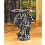 Hissing dragon standing guard side accent table in USA free shipping, Home & Garden Decor,Interior Design Genie ,
