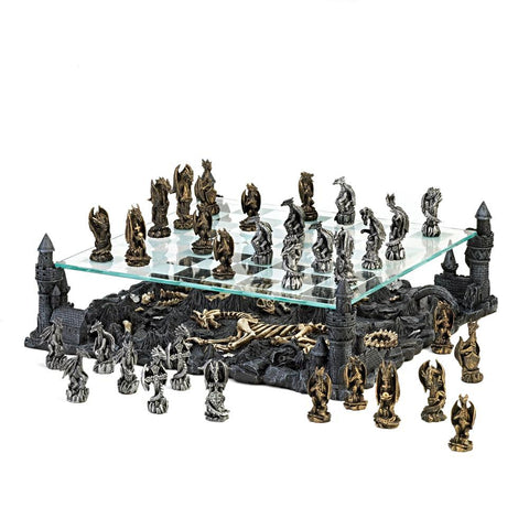 Special Offer 50% Off Chess at Dragon Kingdom, Four corner Kingdom two tier battle valley  Chess Set, Arts & Entertainment > Hobbies & Creative Arts > Collectibles,Interior Design Genie ,