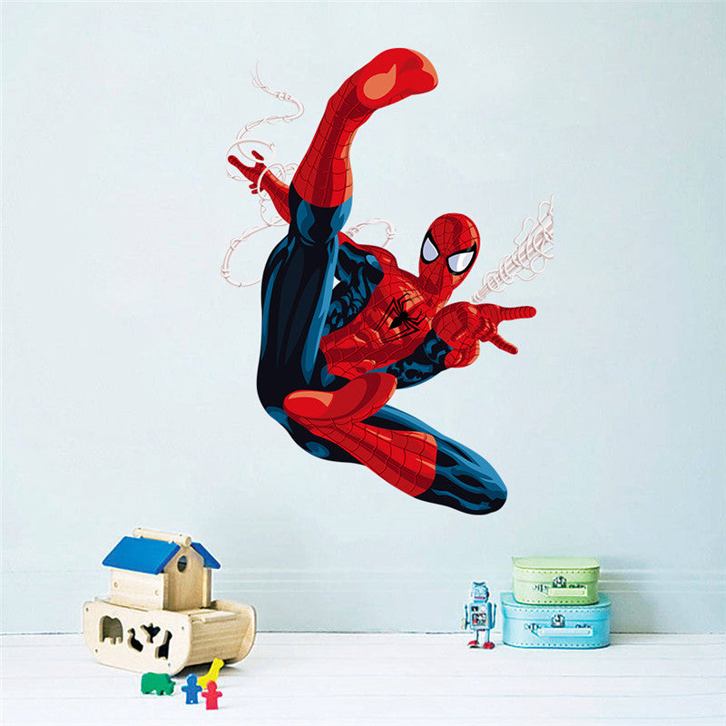 Delicieux Super Hero 3D Cartoon Spiderman Wall Stickers For Kids Rooms Decals Home  Decor Kids 3D Wall