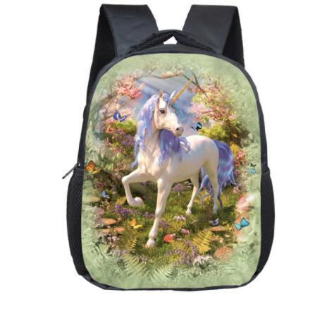 "Butterfly 3D 14"" Rainbow Unicorn Day Backpacks for Kindergarten kids Fantastic Unicorn Prints Little Princess Girls Kids Backpack., Luggage & Bags > Backpacks,Interior Design Genie ,"