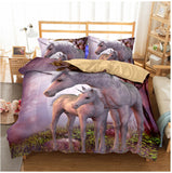 3d Unicorn Bedding Set All Sizes Watercolor Print Bed Set Kids Girl Duvet Cover Dreamlike room, Home & Garden > Linens & Bedding > Bedding > Duvet Covers,Interior Design Genie ,