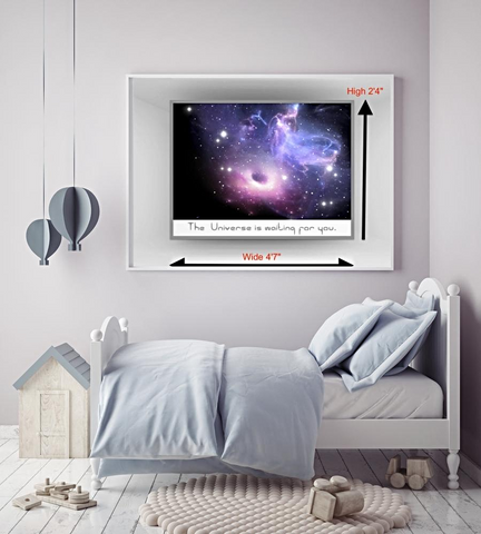 Custom Galaxy Cloud Fluorescence Mural Universe theme bedrooms children's bedrooms Living room photo picture painted on wall Sofa Backdrop Home Decor, Home & Garden > Decor > Wallpaper,Interior Design Genie ,