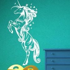 Unicorn Horse Nursery Girls Bedroom Wall Decal Sticker Art Vinyl Wall Stickers, Wall Decal,Interior Design Genie ,