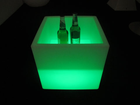 LED Ice bucket, colour changing, luminous ice pail ice cooler, glow beverage cask, Plastic - Interior Design Genie