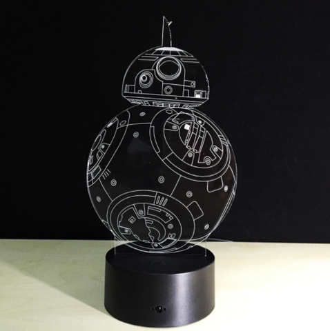 Galaxy Wars Lamp shopping 3D Night Light Robot USB LED Table Desk Lamp for themed Bedroom, Home Decor,Interior Design Genie ,