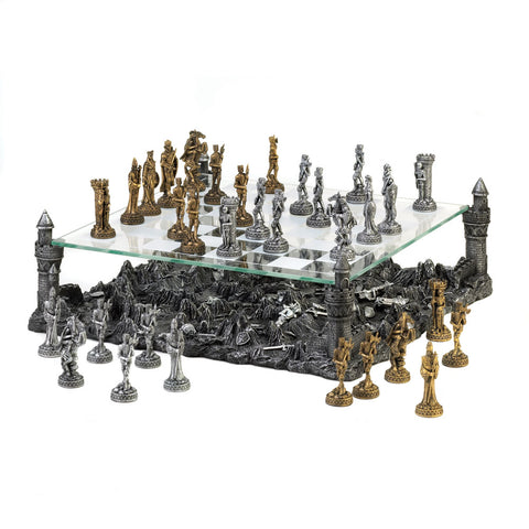 Best Chess Set Battleground Four towers of the castle glass over Chess in 3D - Interior Design Genie