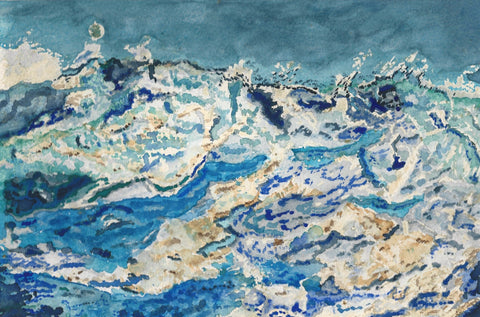 Wild ocean., canvas,Interior Design Genie ,