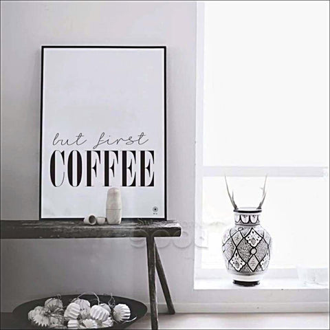 """But First Coffee""..... Canvas Art Print Poster., Poster,Interior Design Genie ,"