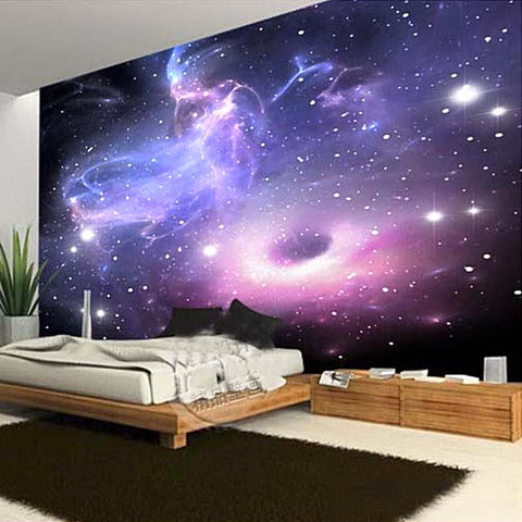 Custom Galaxy Cloud Fluorescence Mural Universe theme ...