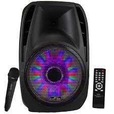 "Bluetooth Tailgate Speaker 1 x 15"" with sound/volume reactive lights ex USA stock free shipping, Arts & Entertainment > Party & Celebration > Special Effects > Special Effects Lighting,Interior Design Genie ,"