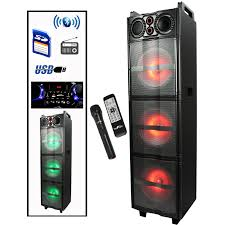 "3 Sound Party Lights 3 10"" Subwoofers Portable Bluetooth 15"" Speakers USB/SD input Radio Mic Remote, Arts & Entertainment > Party & Celebration > Special Effects > Special Effects Lighting,Interior Design Genie ,"