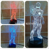3D Avengers Iron Man laser LED Night Light colour changeable USB, Home Decor,Interior Design Genie ,