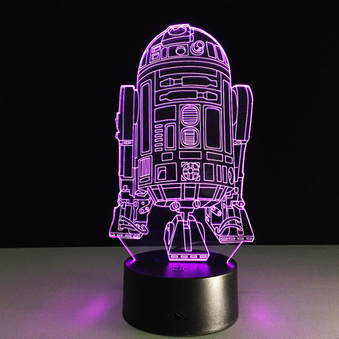 Star Wars LED 3D nightlight  desk lamp bedside Nightlight colorful touch acrylic lamps., Home Decor,Interior Design Genie ,