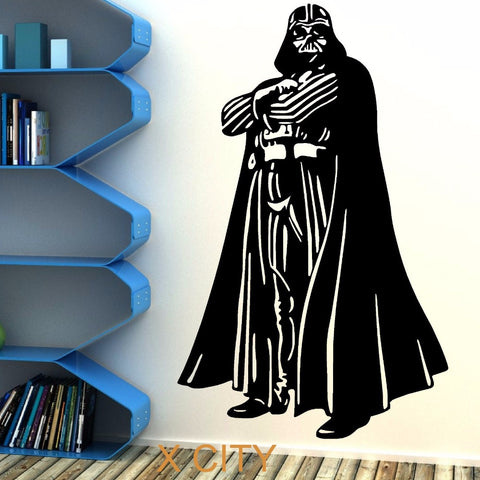 Darth Vader Vinyl wall art sticker theme room star wars themed bedroom movie decal, Home & Garden > Decor > Home Decor Decals,Interior Design Genie ,