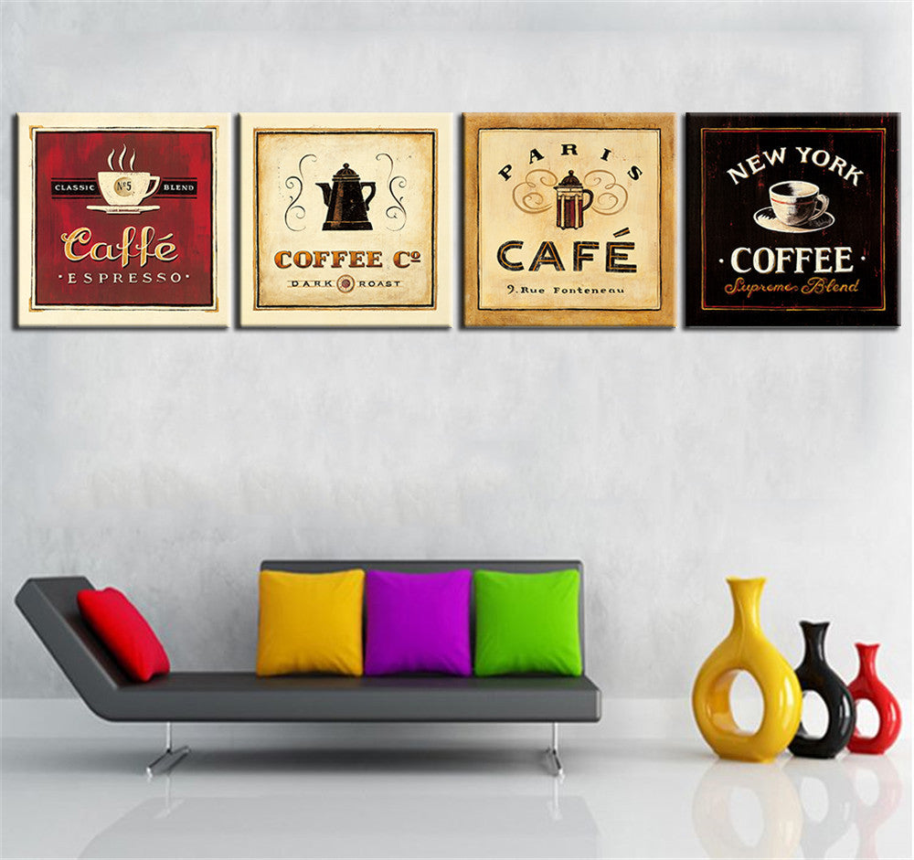 Hang Vintage Coffee Posters to create a cozy area in your room ...