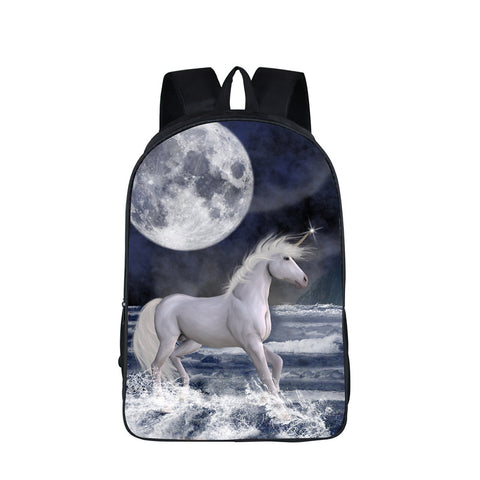 Unicorn 3D Moon Backpack Laptop College School Student Weekend Bag Casual Daypacks Travel, Luggage & Bags > Backpacks,Interior Design Genie ,