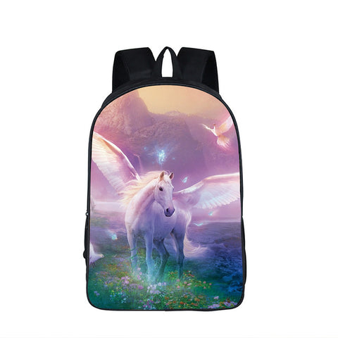 3D Fantastic Animal Prints Horse Unicorn Backpacks for Teenagers Boys Girls Kids Backpack School Bags Children, ,Interior Design Genie ,