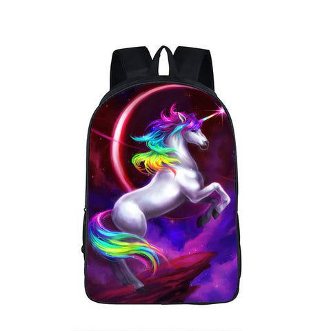 Rainbow Unicorn 3D Waterproof Backpack - Teenagers Fantastic  Horse Print Unisex, Luggage & Bags > Backpacks,Interior Design Genie ,