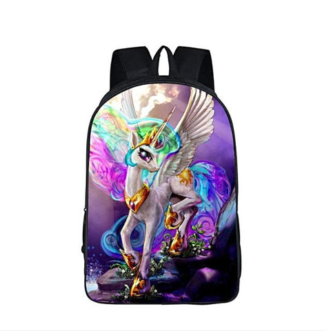 Rainbow Unicorn Jewel Backpack 3D Fantastic Jewel Rainbow Unicorn Prints Unicorn Backpacks for Teenagers Girls Kids bookbag School Bags Children