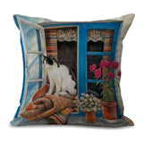 Lazy Cat Pillow Case, canvas,Interior Design Genie ,
