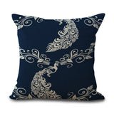 Pillow Case with Plant Prints, cushions,Interior Design Genie ,