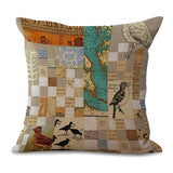 Pillow Cases with Bird Paintings, cushions,Interior Design Genie ,
