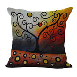 Tree Printed Pillow Cases, cushions,Interior Design Genie ,