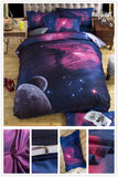 3d Galaxy Duvet Cover Set Single double Twin/Queen 2pcs/3pcs/4pcs Universe Outer Space, Home & Garden > Linens & Bedding > Bedding > Duvet Covers,Interior Design Genie ,
