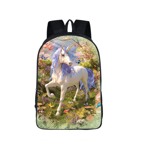 "Butterfly 3D Rainbow Unicorn Day Backpacks for Unicorn Lovers, casual day/night large 16"" backpacks. - Interior Design Genie"