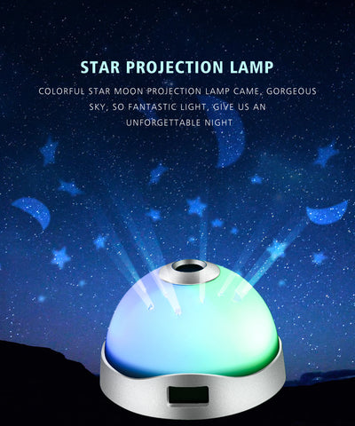 Night light star sky projection lamp LED baby light time Toddler bedroom lamp Sky Night Light Projection Lamp LED Baby Light Children., Home Decor,Interior Design Genie ,
