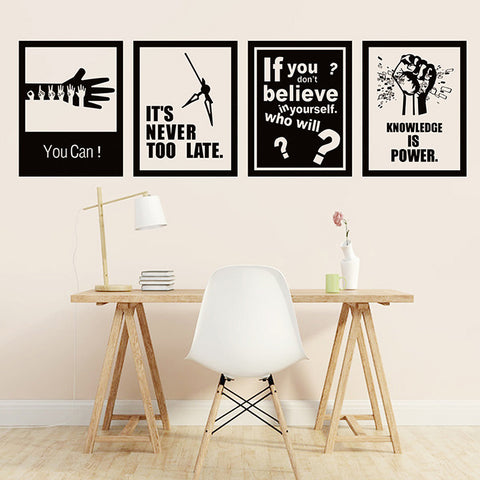 New inspirational large wall stickers School classroom company office decor removable wall sticker, ,Interior Design Genie ,