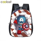 12 Inch Comics Superhero Backpack Kids School Bags Superman Spiderman Batman Kids Kindergarten Boys, Luggage & Bags > Backpacks,Interior Design Genie ,
