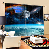 Star Wars Theme Outer space with Clouds, Luxury Galaxy 3D Blackout Curtains For Living room Kids Boys Bedding room Drapes., curtains,Interior Design Genie ,