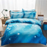 3d Galaxy Home Bedding Set Twin/Queen Universe Outer Space Themed pillowcase Bed Linen, Home & Garden > Linens & Bedding > Bedding > Duvet Covers,Interior Design Genie ,