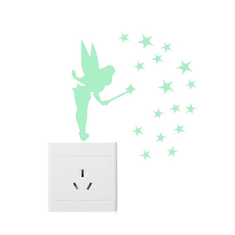 Fairy Stars Luminous Fluorescent Wallpaper Decal Wall Stickers Decal Glow In The Dark, Home Decor,Interior Design Genie ,