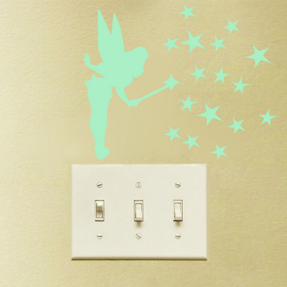 Fairy Stars Luminous Fluorescent Wallpaper Decal Wall Stickers Decal ...