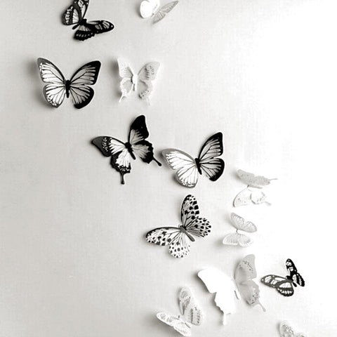 Butterfly 3D Wall Stickers 18 Pcs / Lot Adhesive Cartoon Decals Home Decor Wall Decorations - Interior Design Genie
