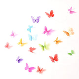 Butterfly 3D Wall Stickers 18 Pcs / Lot Adhesive Cartoon Decals Home Decor Wall Decorations, Home Decor,Interior Design Genie ,