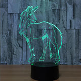 Unicorn 3D LED Night Light 7 Colour Change Baby Cartoon LED Nightlight USB Lamp - Interior Design Genie