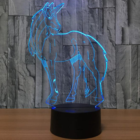 Unicorn 3D LED Night Light 7 Colour Change Baby Cartoon LED Nightlight USB Lamp, Home Decor,Interior Design Genie ,