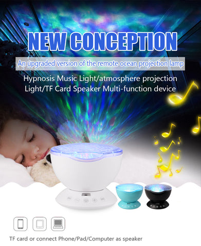 LED Night Light with Ocean Wave sound Projector Starry Sky Cosmos Star Lamp Luminary Aurora Novelty Baby Night light Gift For Home Kids, Home Decor,Interior Design Genie ,