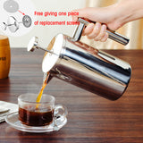 Best French Press Coffee Maker Double Wall S/St Cafeteria Insulated Coffee Tea Pot+One Filter Basket, Kitchen helpers,Interior Design Genie ,