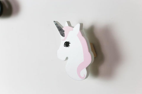 3D Unicorn Hook Nordic Wall Door-Back Hanging Ornaments Creative INS Child Room Decoration Toys Model Chirstmas Gift Photography, ,Interior Design Genie ,
