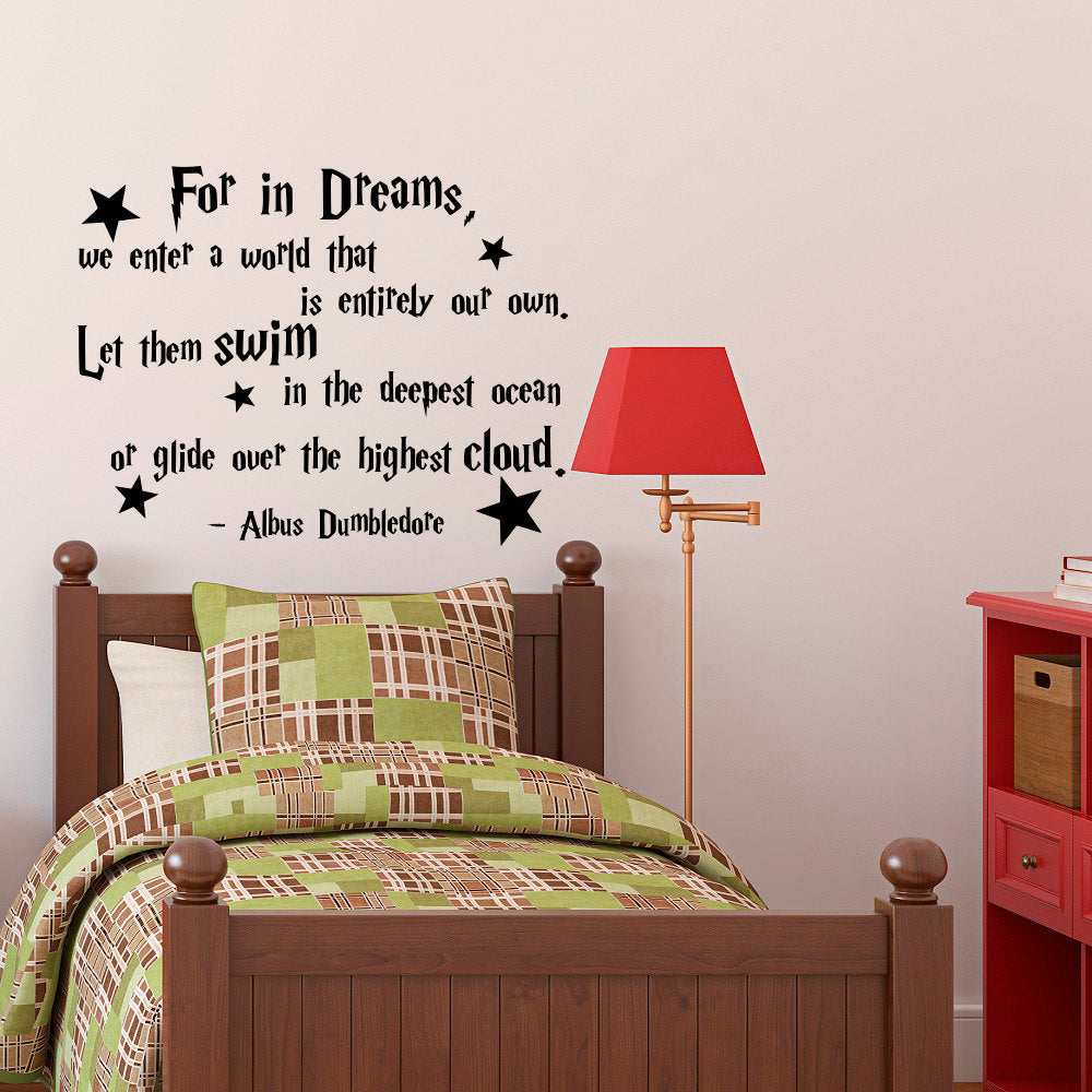 Harry Potter For In Dreams... Vinyl Quotes Wall Decal Home Decor Bedroom Art