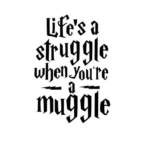 Life is a struggle Harry Potter vinyl quote Inspirational decor living room art removable sticker - Interior Design Genie