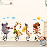 FUN Wild Animal Cartoon stickers forest large wall stickers decals kids decor nursery school diy, Wall Decal,Interior Design Genie ,