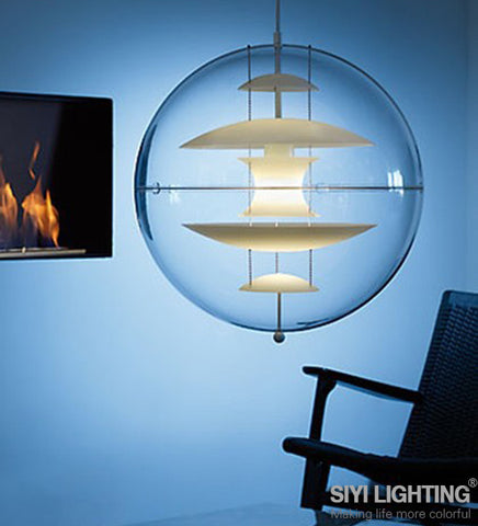 Modern contemporary Pendant Light VP GLOBE Suspension pendant lighting Designed By Verner Panton - Interior Design Genie