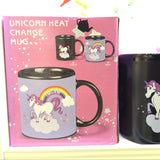Unicorn rainbow color change coffee mugs heat magic mark tea milk cups, Kitchen helpers,Interior Design Genie ,