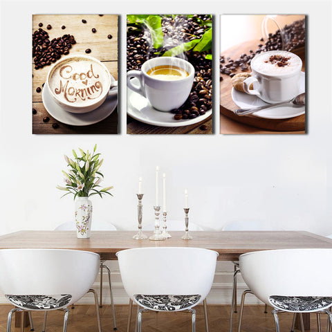 Say good morning with Coffee and these tickle the taste buds!, canvas,Interior Design Genie ,