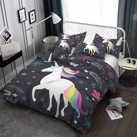 3D Unicorn Star Print Duvet set Bed set with pillowcase Home Textiles Fast shipping 5-6 Days USA, Home & Garden > Linens & Bedding > Bedding > Duvet Covers,Interior Design Genie ,